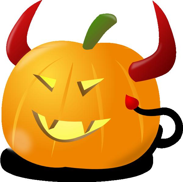 Devil pumpkin clip art. Horn clipart devel