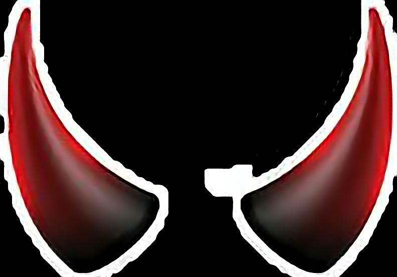 Horns costumes sticker report. Horn clipart devil