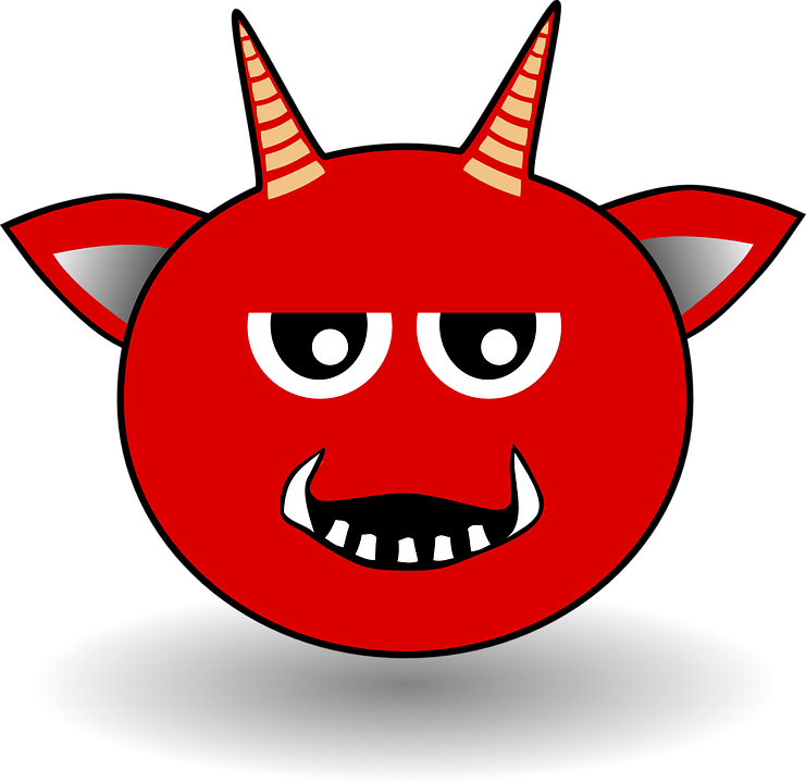 Emoticon devil horns group. Horn clipart devilish