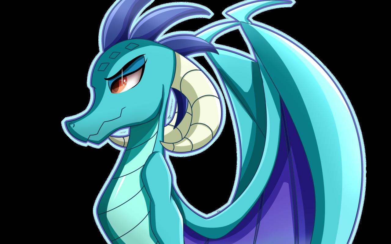 Horn clipart dragon.  artist nexcoyotlgt curved