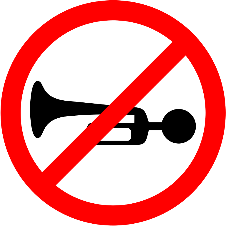 Horn clipart english horn. File prohibited sign india