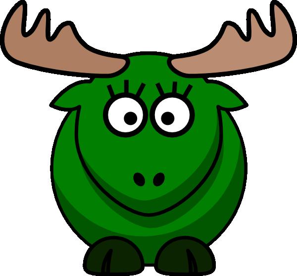 Green clip art at. Moose clipart girl moose