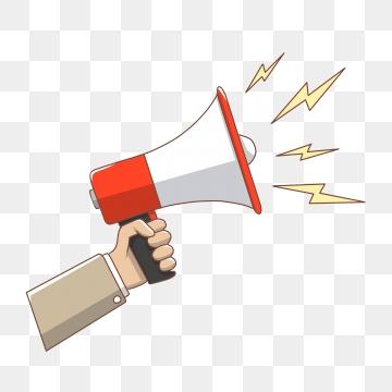 Images png format clip. Horn clipart hand speaker