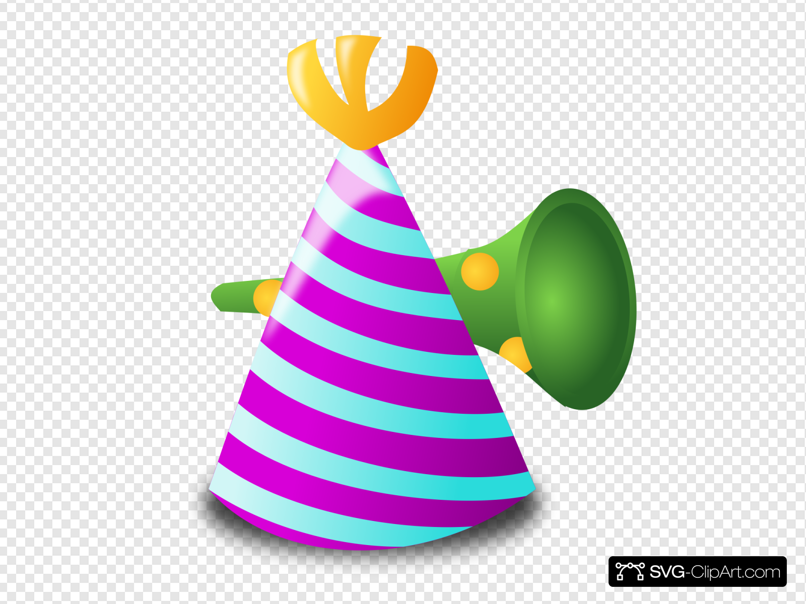 And clip art icon. Horn clipart hat