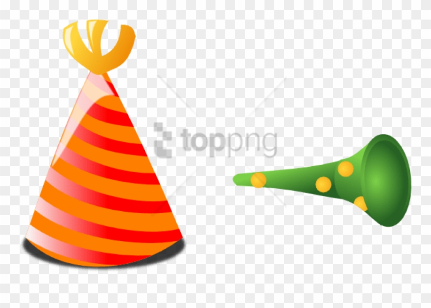 Horn clipart hat. Free png download birthday