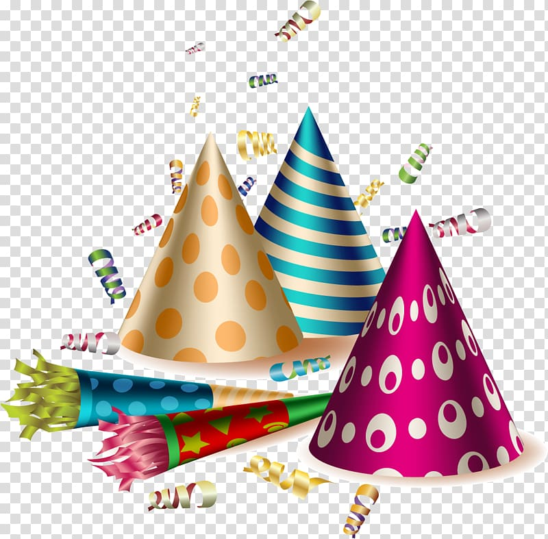 Party birthday transparent background. Horn clipart hat