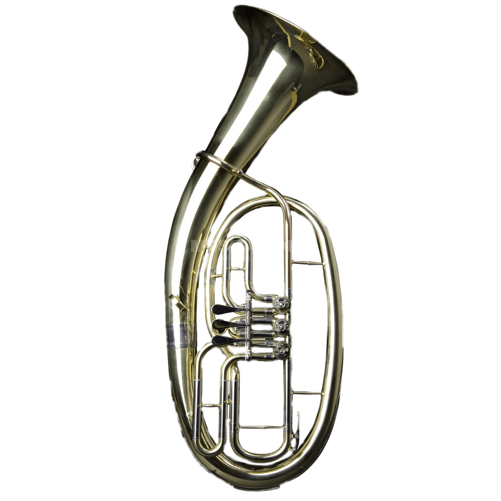 Brass tenor horn transparent. Instruments clipart tuba
