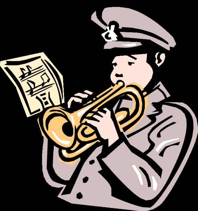 Salvation army trumpet player. Horn clipart instument
