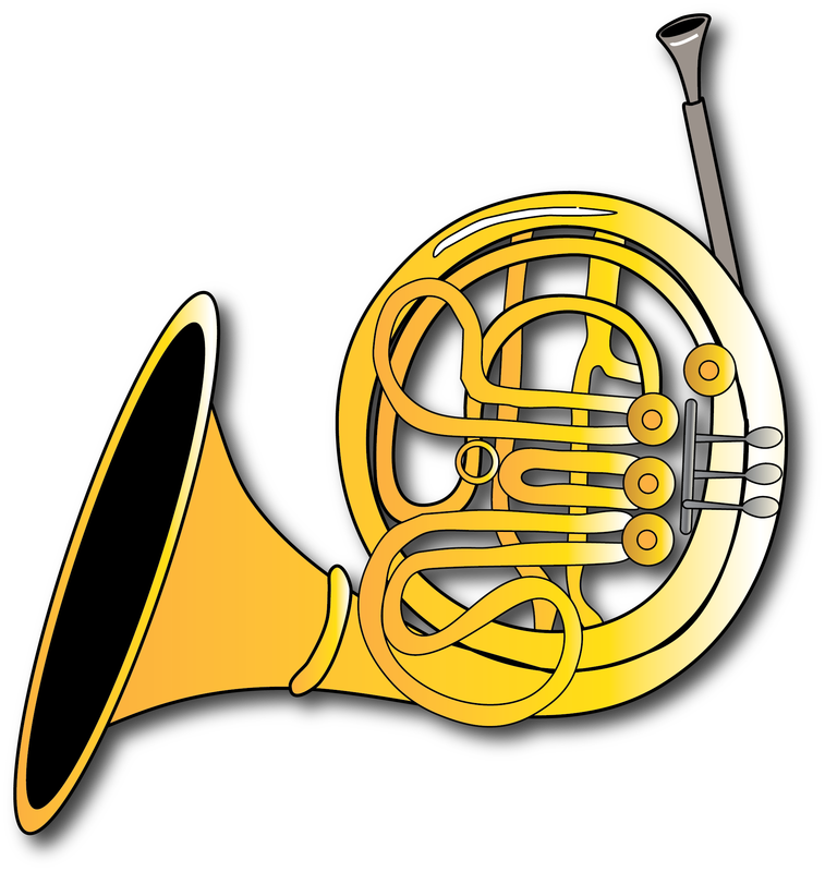 Horn clipart instument. Resources gallery brass family