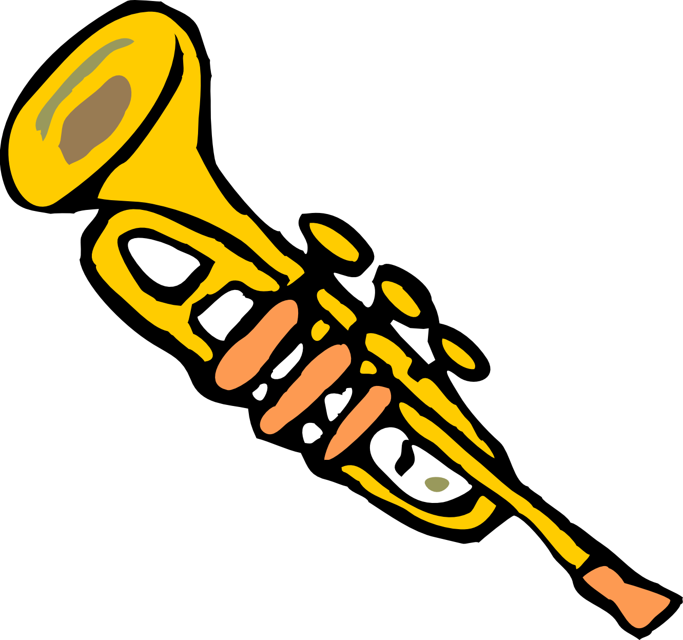 Horn clipart jpeg. Cartoon trumpet
