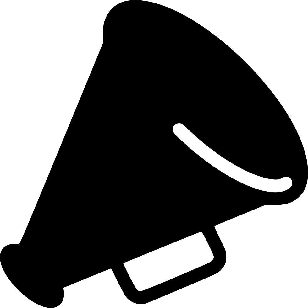 Horn clipart loudspeaker. Svg png icon free