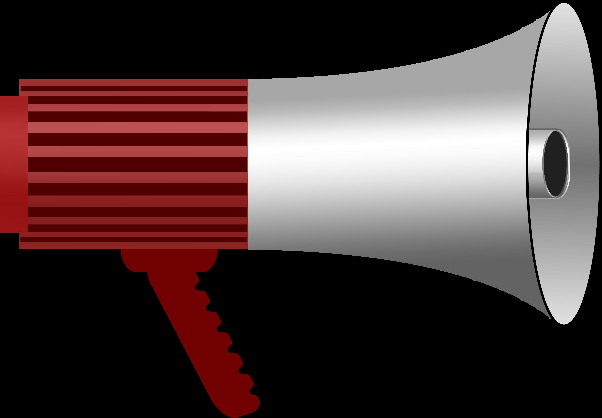 Megaphone. Horn clipart loudspeaker