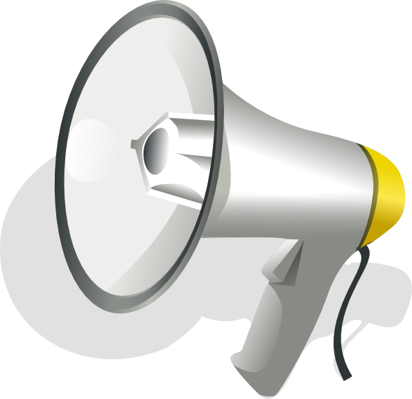 Horn clipart megaphone. Frpic clipartix