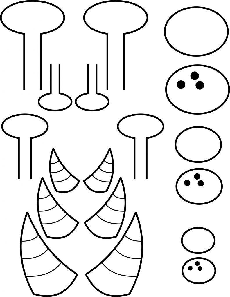 Printable horns free kids. Horn clipart monster