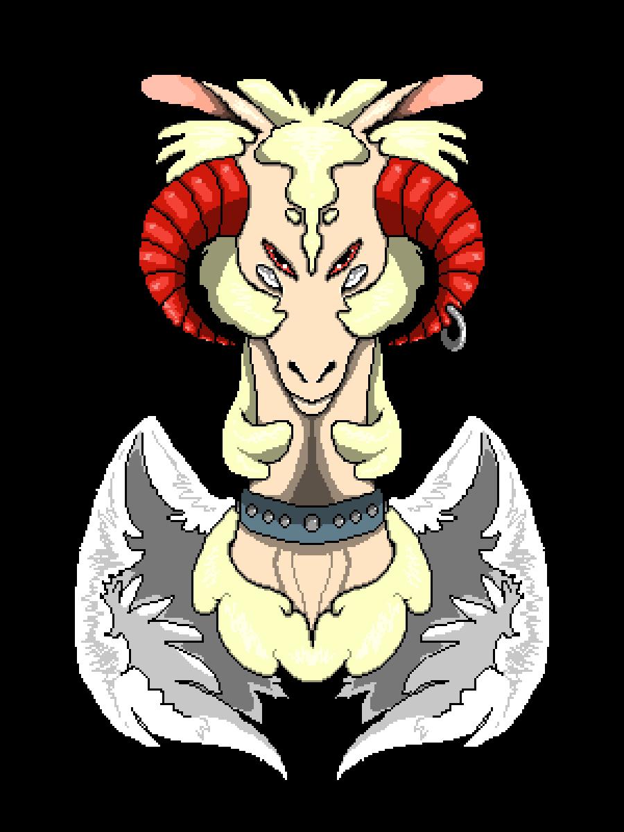 Horn clipart monster. Pixilart yang demon form