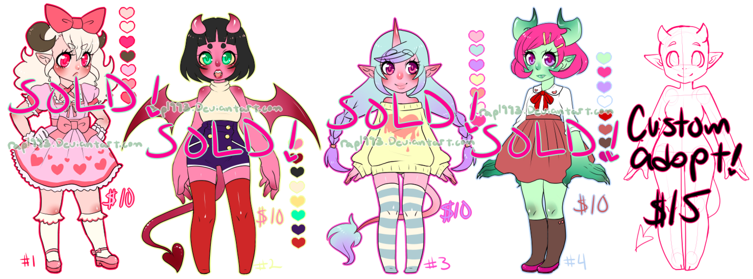 Horn clipart monster. More girl adoptables closed