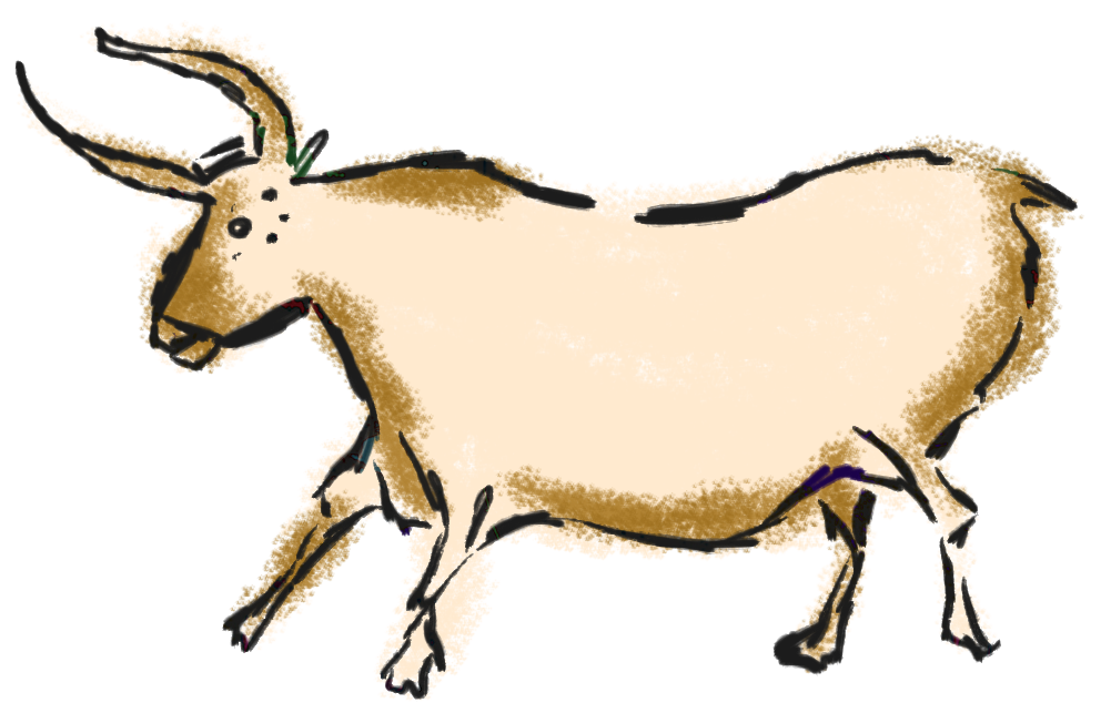Buncee title my teaches. Horn clipart mother goat