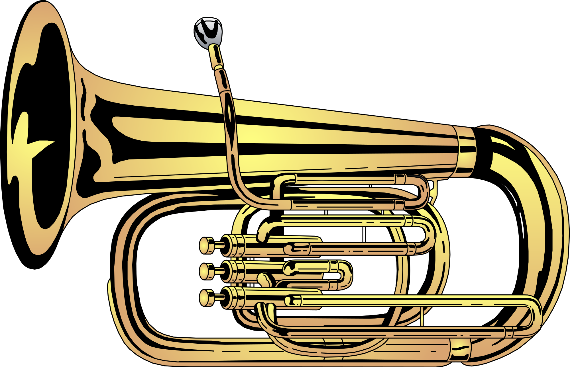 Horn clipart musical intrument. File tuba svg wikimedia