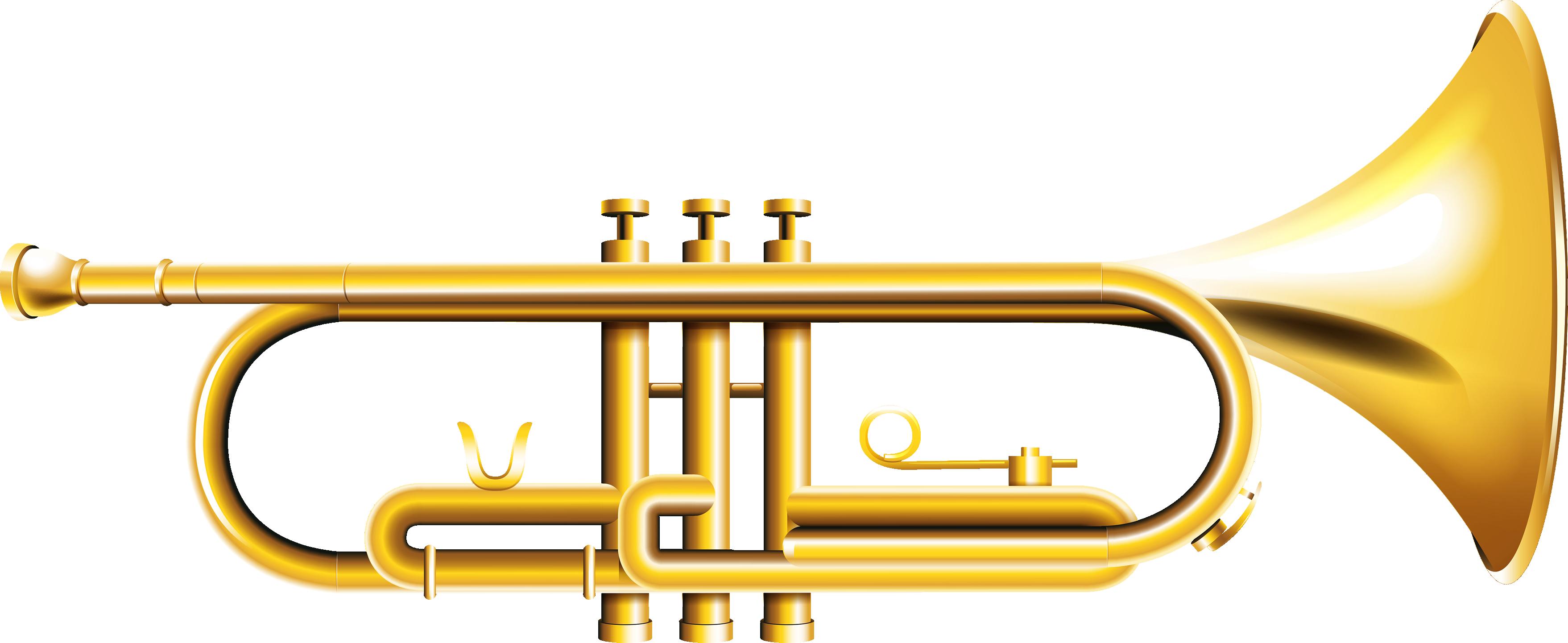 Trumpet clip art retro. Horn clipart musical intrument