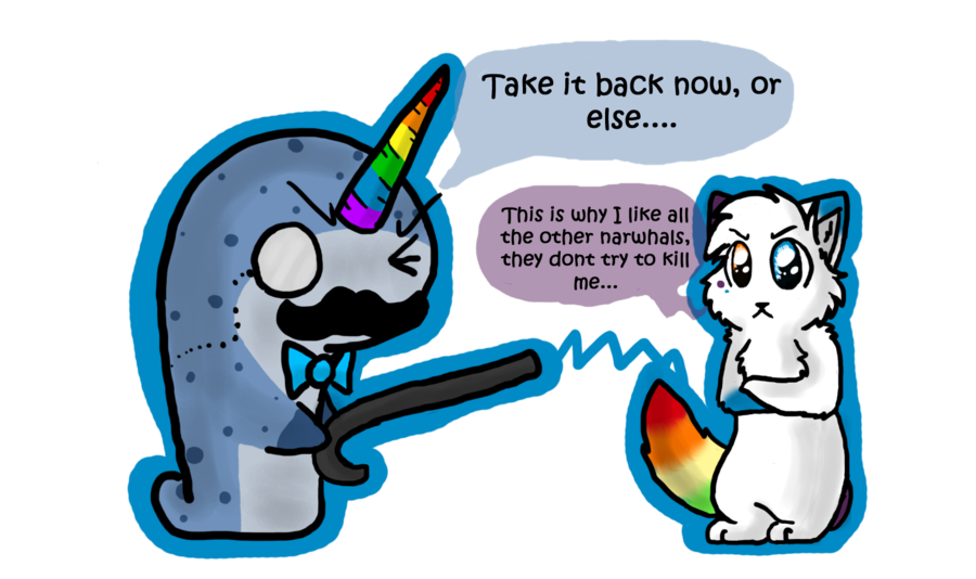 Narwhal clipart horn. Rainbow v tail by