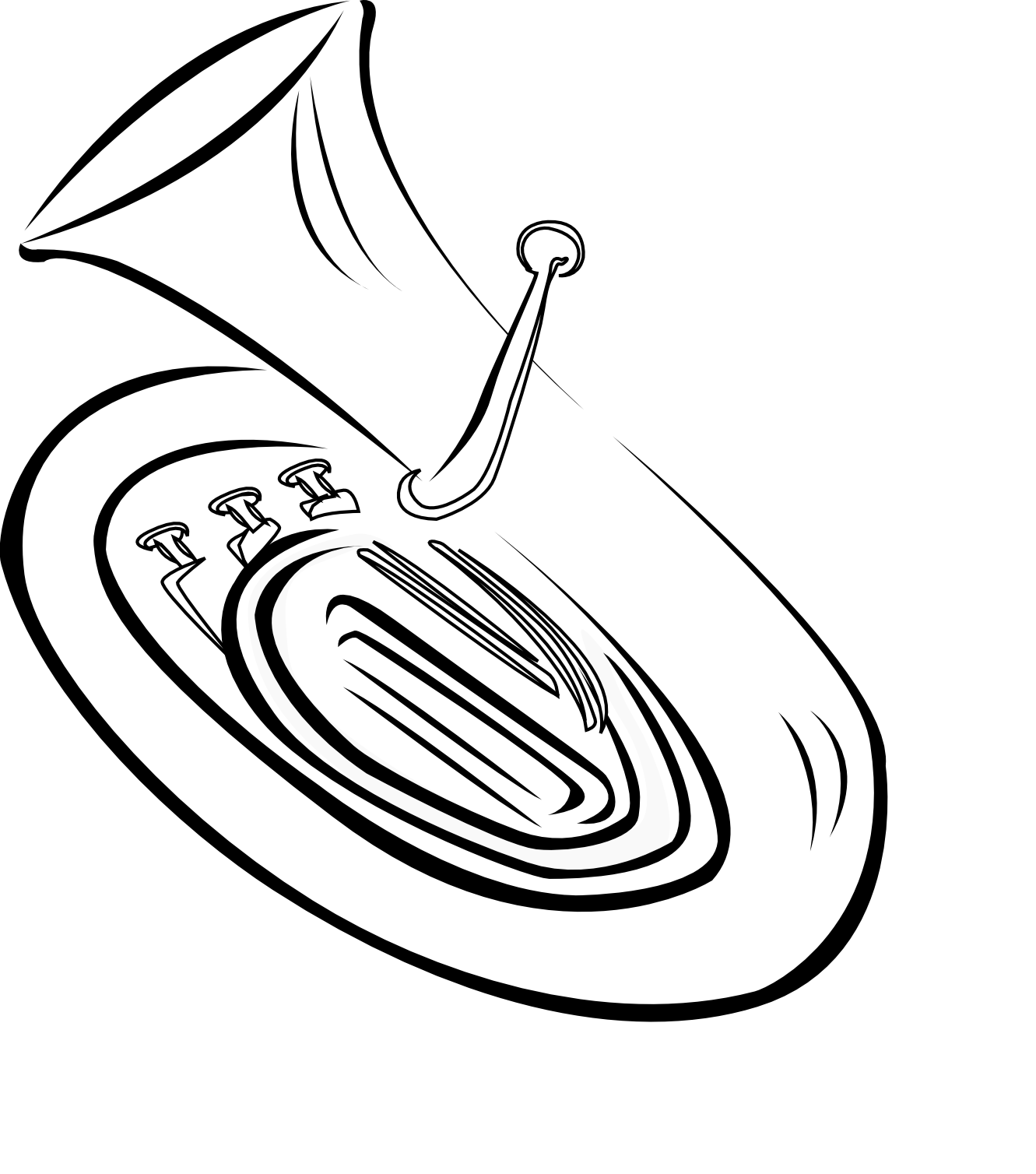 collection of french. Horn clipart outline