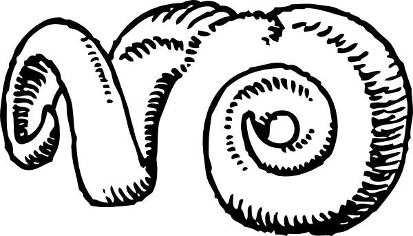 Horns clip art free. Horn clipart ram horn