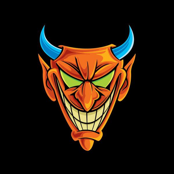 Horn clipart satanic. Printed vinyl satan evil