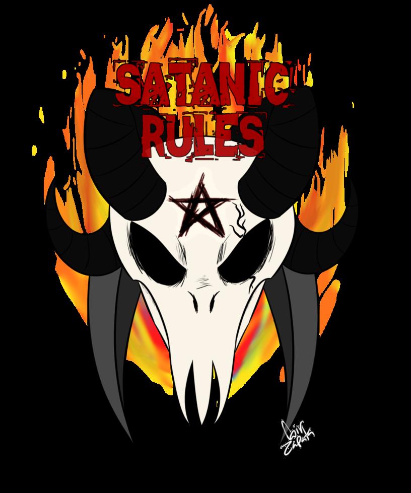 Horn clipart satanic. Rules logo by redaz