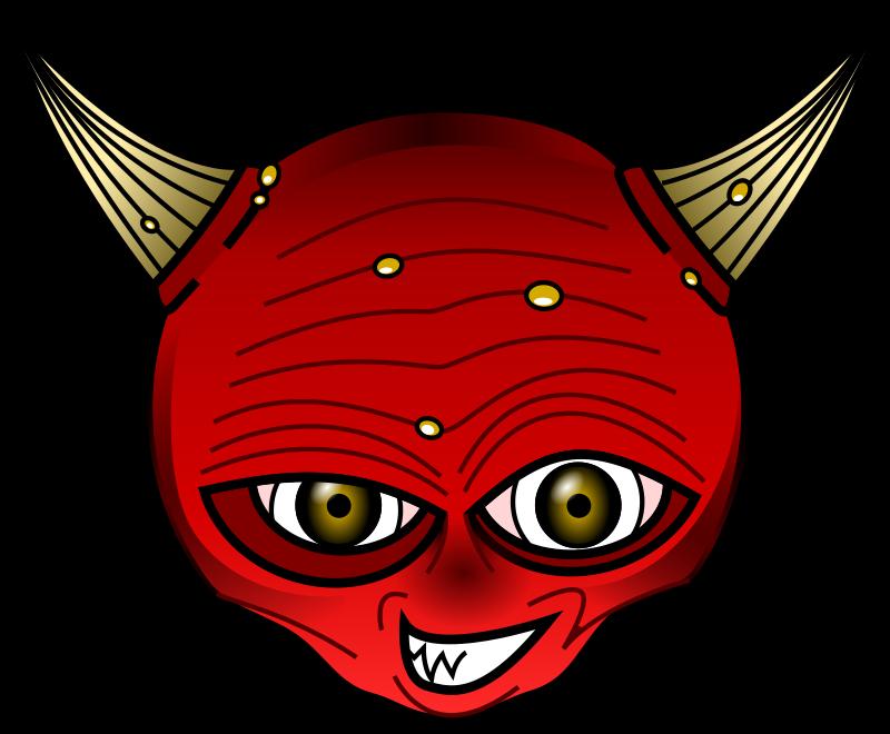 Horn clipart satanic. Red devil medium image