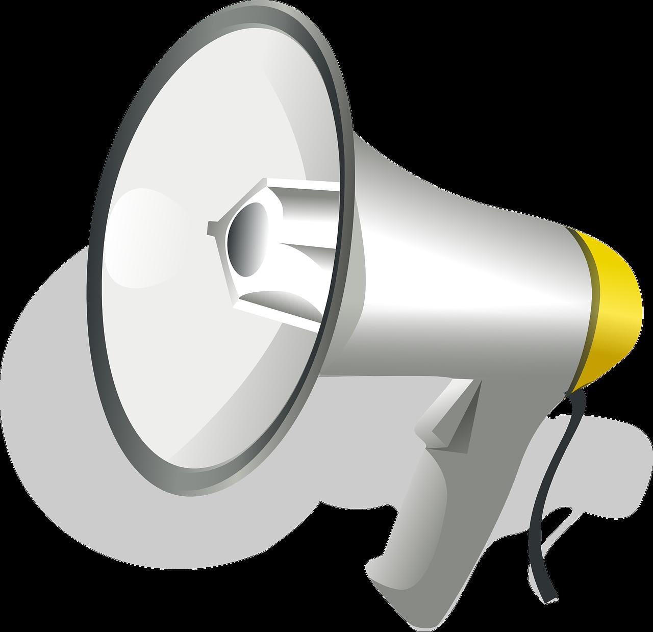 Horn clipart speaker phone. Loudspeaker speakerphone clip art