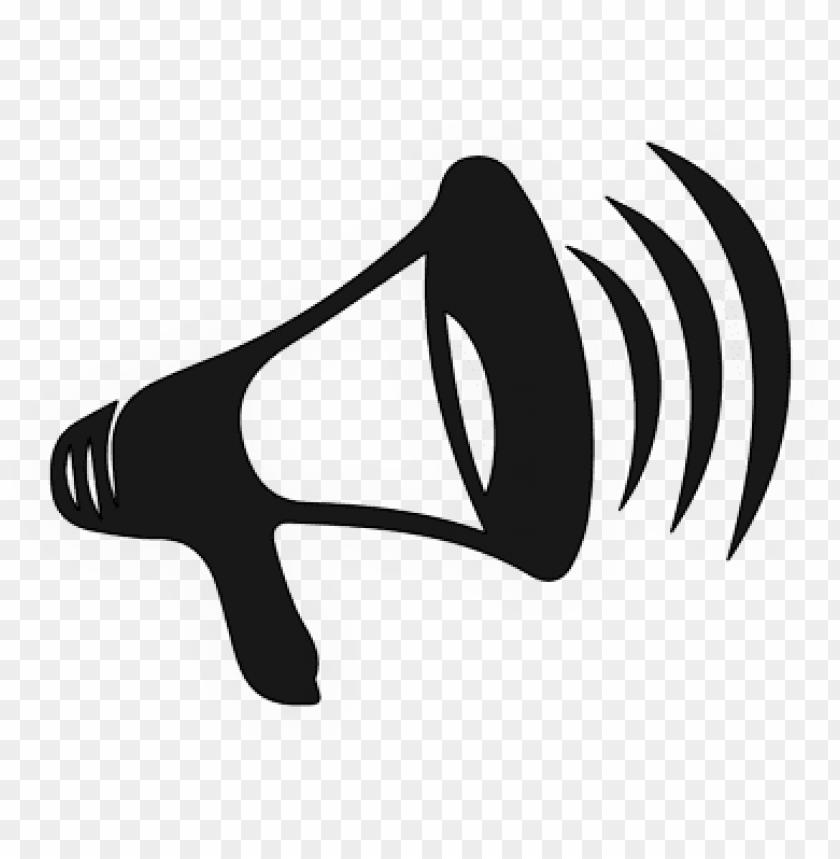 Horn clipart speaker phone. Bull icon megaphone clip
