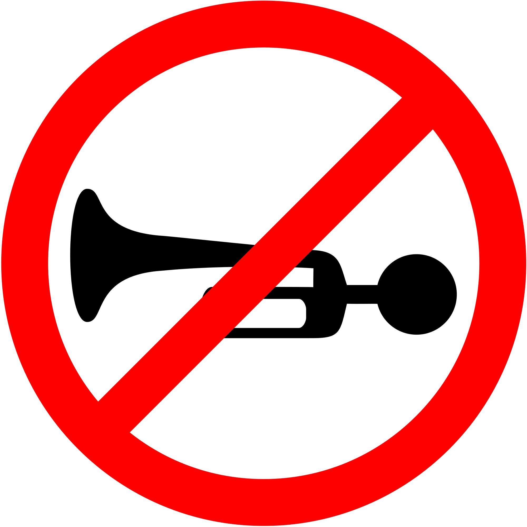 Horn clipart svg. File prohibited sign india