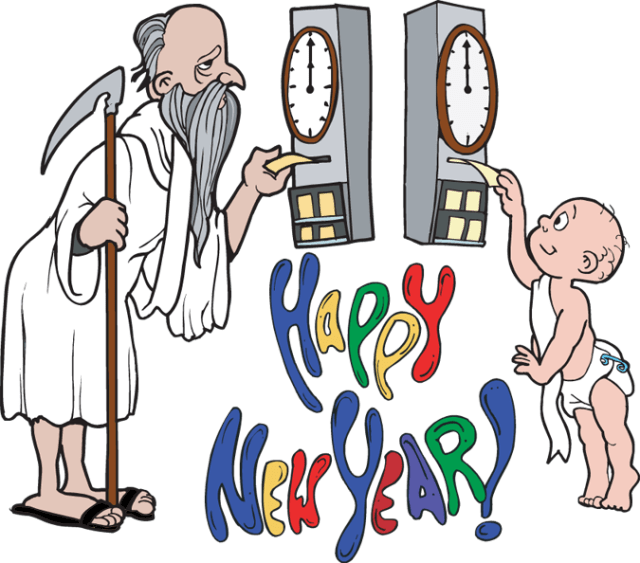 Horn clipart torotot. Father time new year