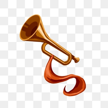 Shell clipart horn. Trumpet images png format