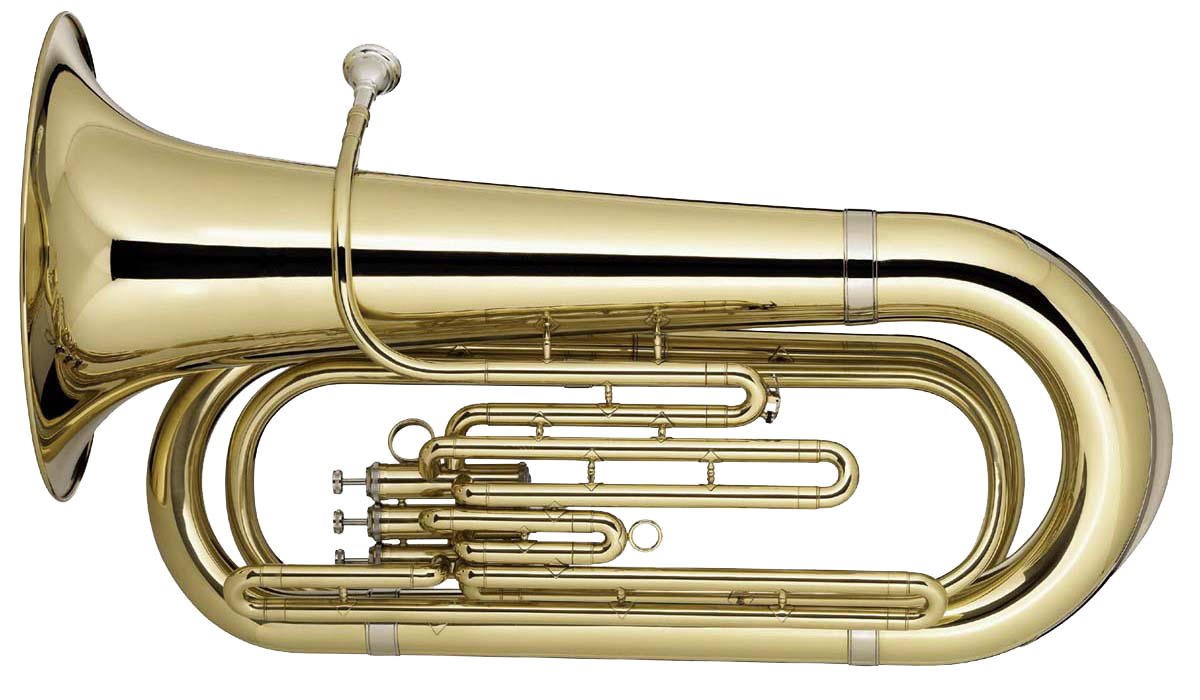 Instruments clipart tuba. Brass band instrument png