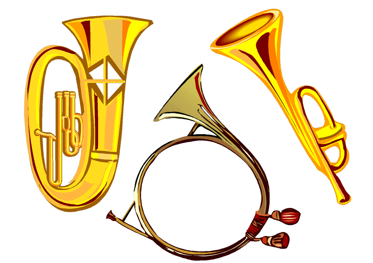 Horn clipart tuba. Eastwood middle on twitter