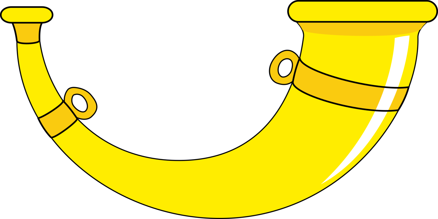Plant area png royalty. Horn clipart yellow