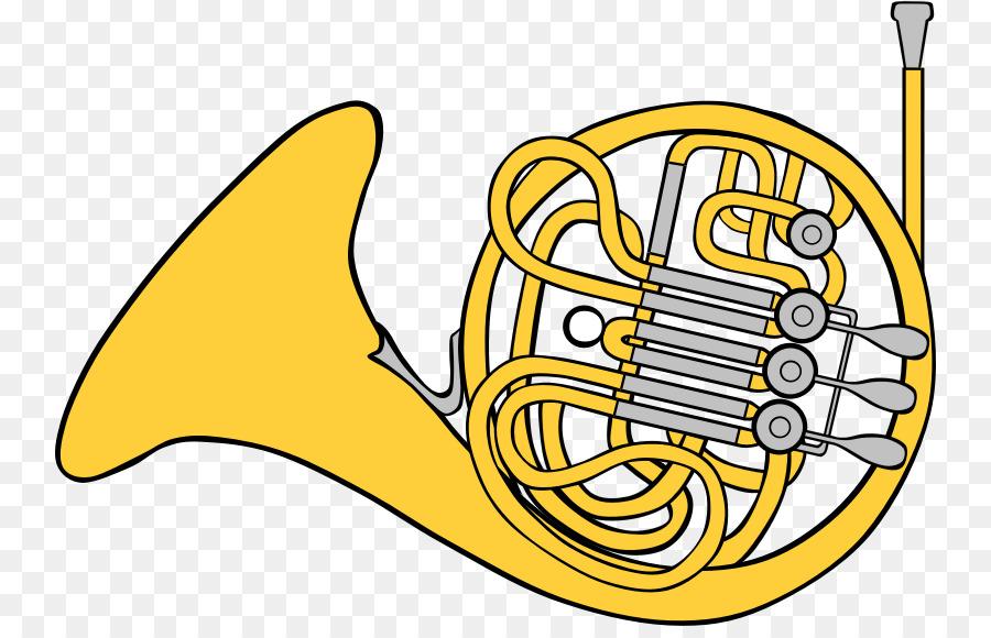 Horn clipart yellow. Brass instruments text font