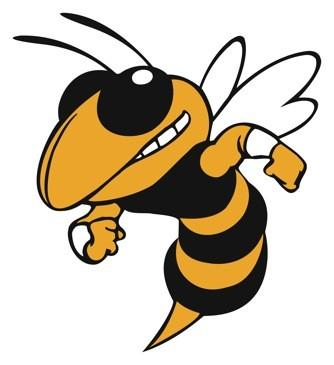 Hornet clipart. School mascot