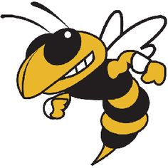Mascot svg file cutting. Hornet clipart