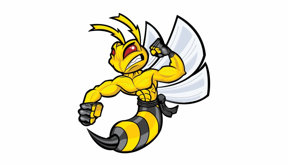 Png freeuse library happy. Hornet clipart angry hornet
