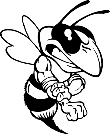 Hornet clipart drawing. Yellow jacket bee mascot