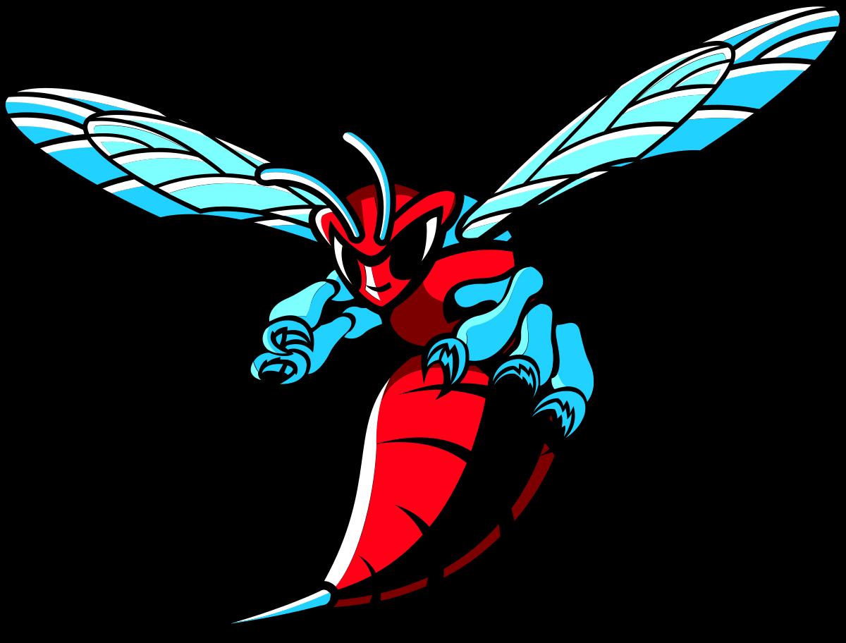 Hornets logos delaware state. Hornet clipart kalamazoo college