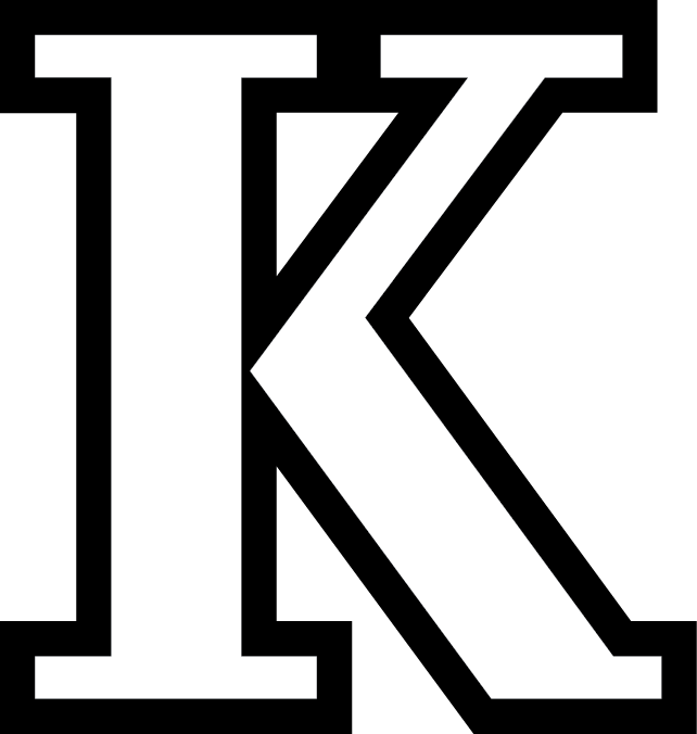 Hornet clipart kalamazoo college. Brandk k logo