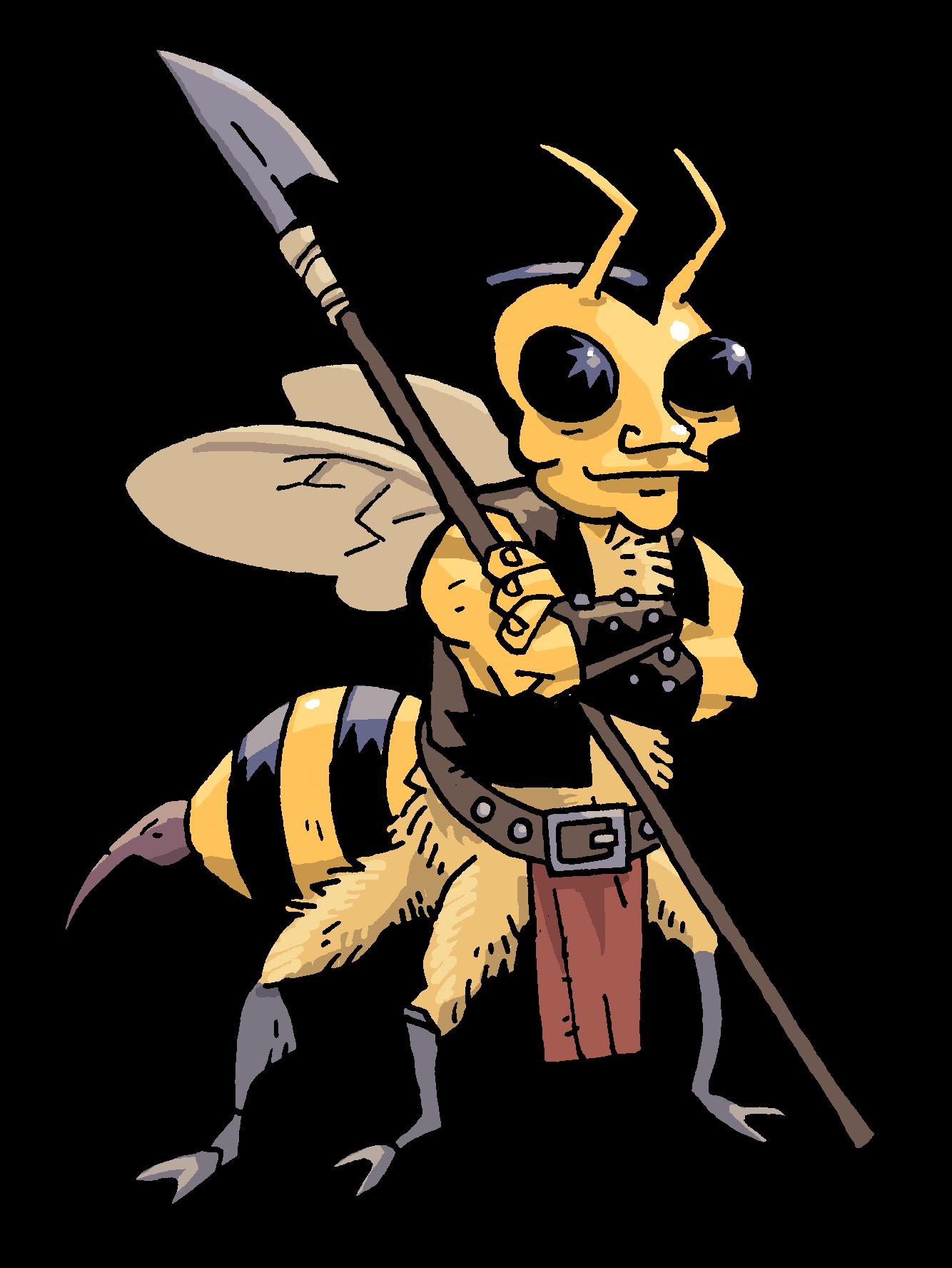 Hornet clipart mad. Ksh rpg monsters sword