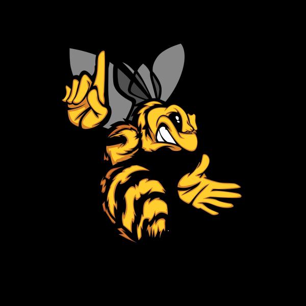 Hornet clipart super hornet. Printed vinyl bee wasp