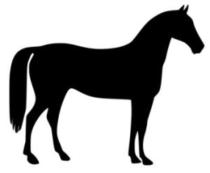 Horse clip art black. Horses clipart standing