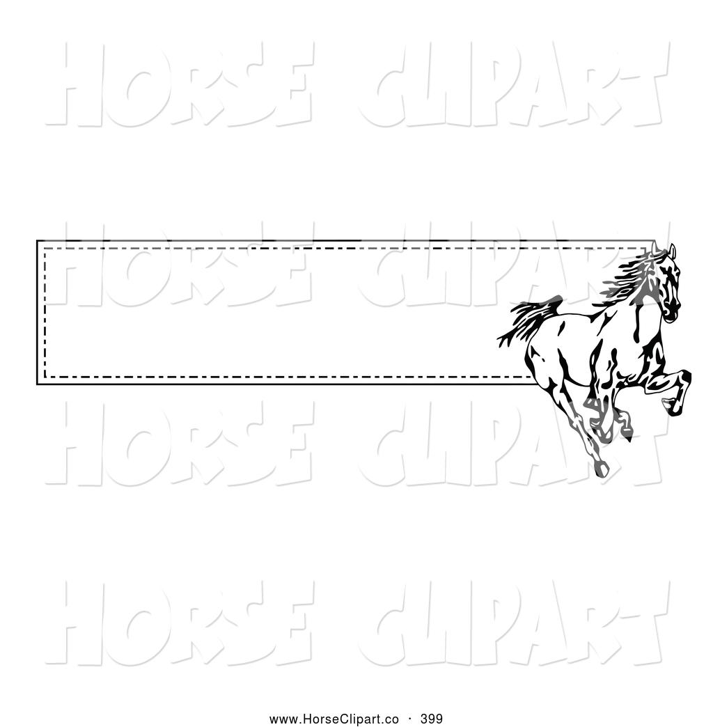 Horse clipart banner. Clip art of a