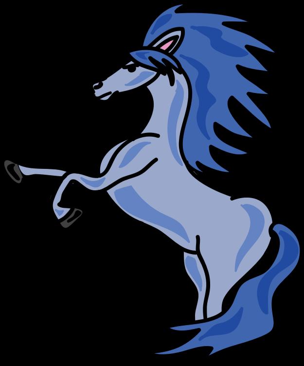 Horse medium image png. Horses clipart blue