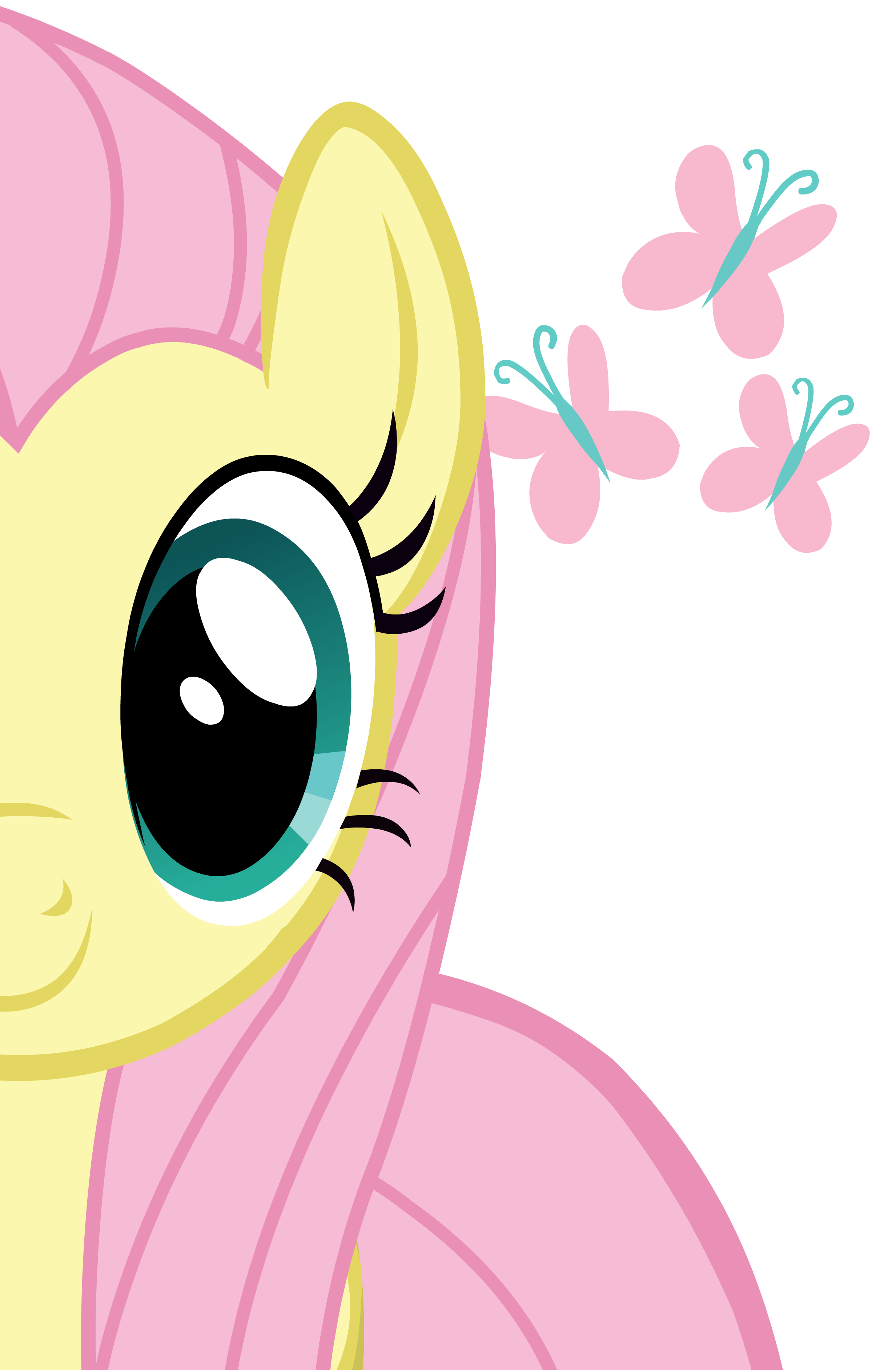 Fluttershy pinterest pony and. Horse clipart ear